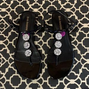 Brand new women's sandals with rhinestones.